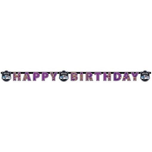 Obrázek z Party nápis Happy Birthday Policie 180 cm