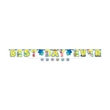 Obrázek Party nápis Sponge Bob Best Day Ever 320 cm