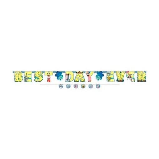 Obrázek z Party nápis Sponge Bob Best Day Ever 320 cm