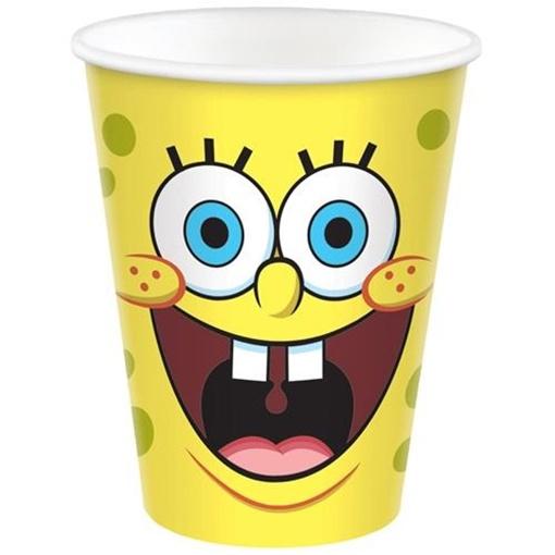 Obrázek z Papírové party kelímky Sponge Bob 8 ks
