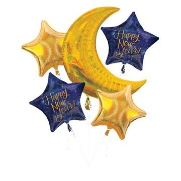 Obrázek Sada foliových balonků Happy New Year 5 ks