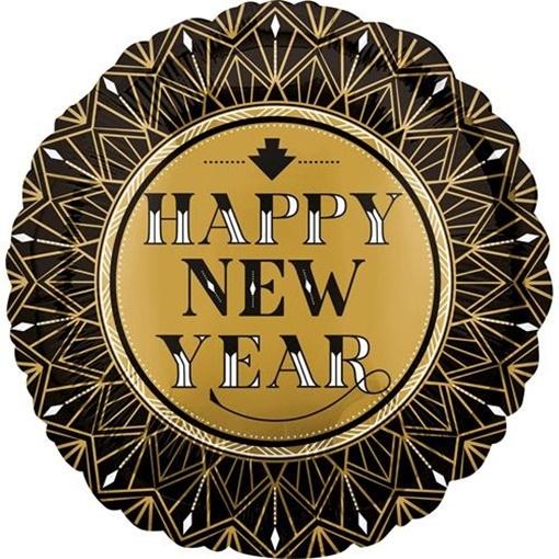 Obrázek z Foliový balonek Happy New Year Twenties 45 cm
