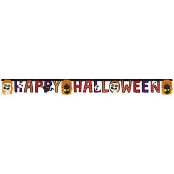 Obrázek Party nápis papírový Happy Halloween - barevný 180 cm