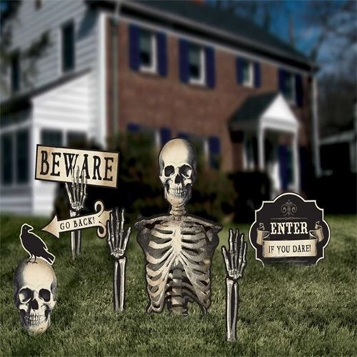 Obrázek z Halloweenská dekorace kosti 9 - 50 cm - 6 ks