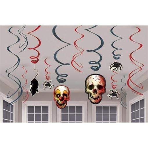 Obrázek z Závěsné spirály Halloween - Creepy Carneval 12 ks