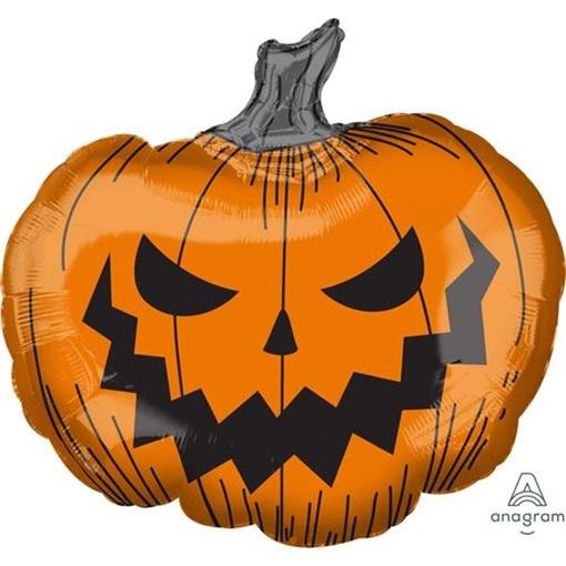 Obrázek z Foliový balonek halloween - strašidelná dýně 73 cm
