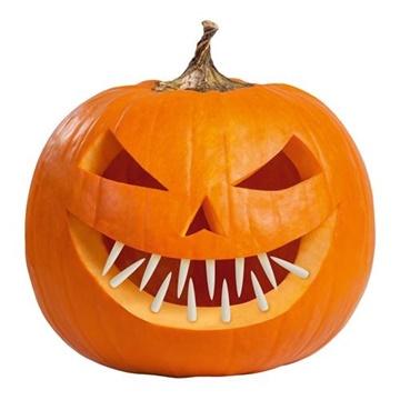 Obrázek Halloweenská dekorace zuby do dýně