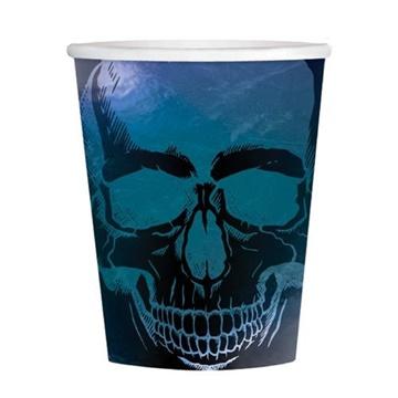 Obrázek Papírové kelímky Halloween - Goblet Skeleton 8 ks