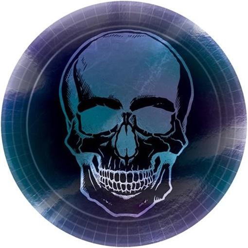 Obrázek z Papírové talíře Halloween - Goblet Skeleton 23 cm