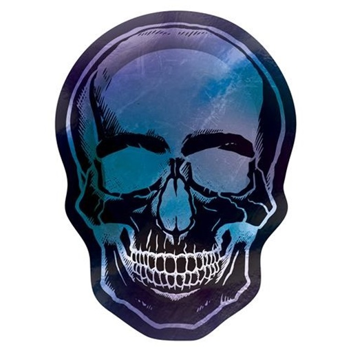 Obrázek z Papírové talíře Lebka Halloween - Goblet Skeleton 25 cm