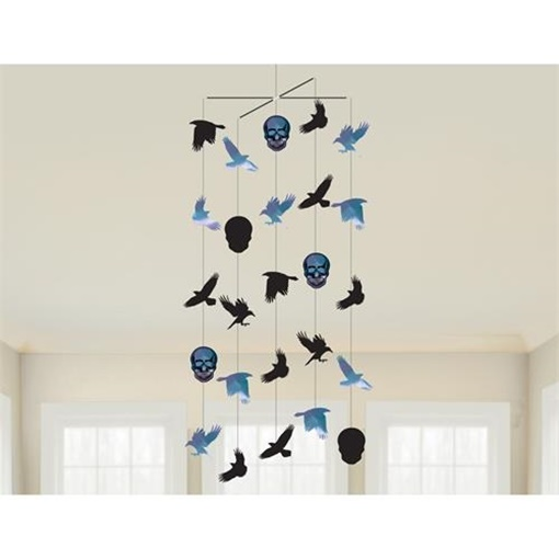 Obrázek z Závěsná dekorace havrani a lebky - Goblet Skeleton