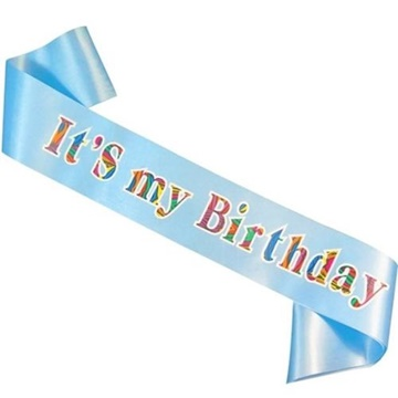 Obrázek Šerpa - Happy Birthday - modrá 2