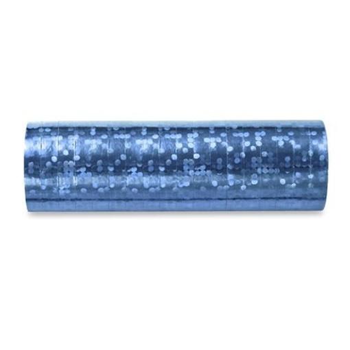 Obrázek z Serpentiny holografické světle modré 380 cm