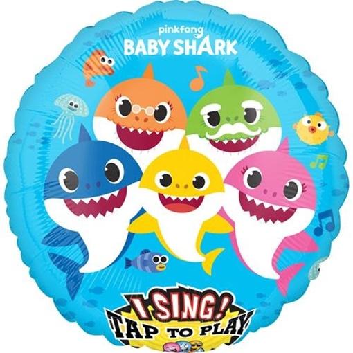 Obrázek z Foliový zpívající balonek Baby Shark 71 cm