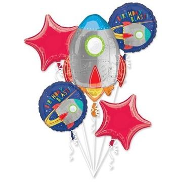 Obrázek Sada foliových balonků Vesmír - 5 ks