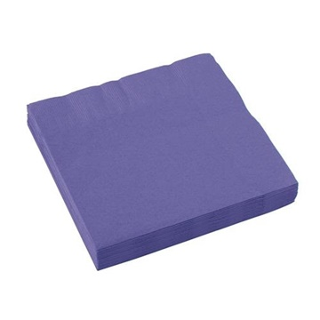 Obrázek Papírové ubrousky fialové 20 ks