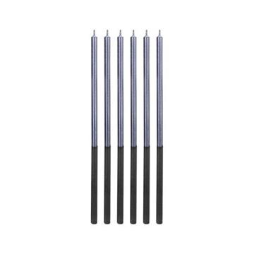 Obrázek Dortové svíčky dlouhé Chrome modré 6 ks