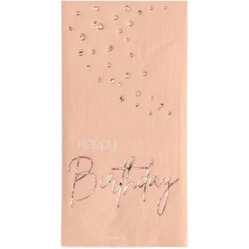 Obrázek Papírové ubrousky Elegant Lush Blush 10 ks