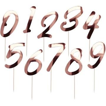 Obrázek Ozdoba na dort - číslice Elegant Lush Blush 20 ks