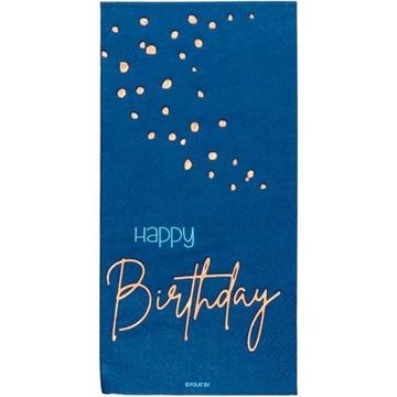 Obrázek Papírové ubrousky Elegant True Blue 10 ks