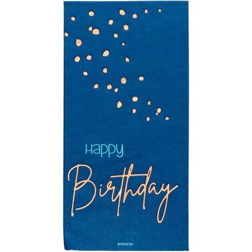Obrázek z Papírové ubrousky Elegant True Blue 10 ks