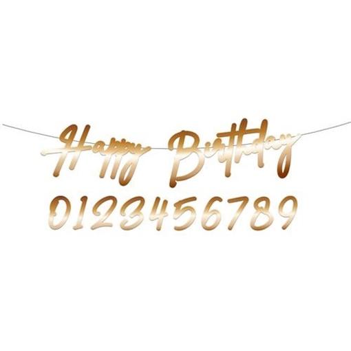 Obrázek z Narozeninový nápis Happy Birthday True Blue 100 cm