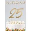 Obrázek z Ozdoba na dort - číslice Elegant True Blue 20 ks