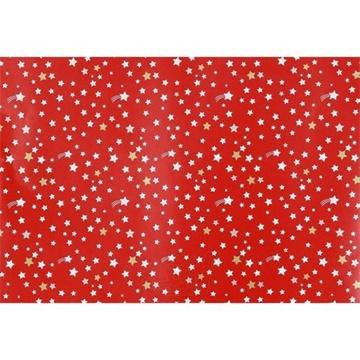 Obrázek Balící papír Vánoční - hvězdičky - červený 10 m