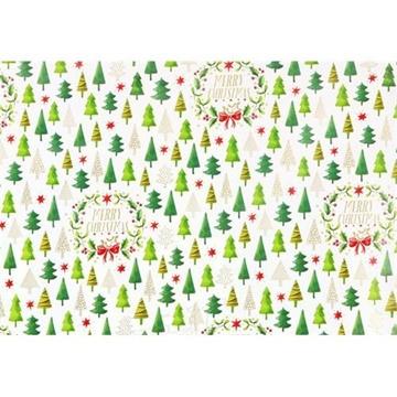 Obrázek Balící papír Vánoční - stromečky 10 m