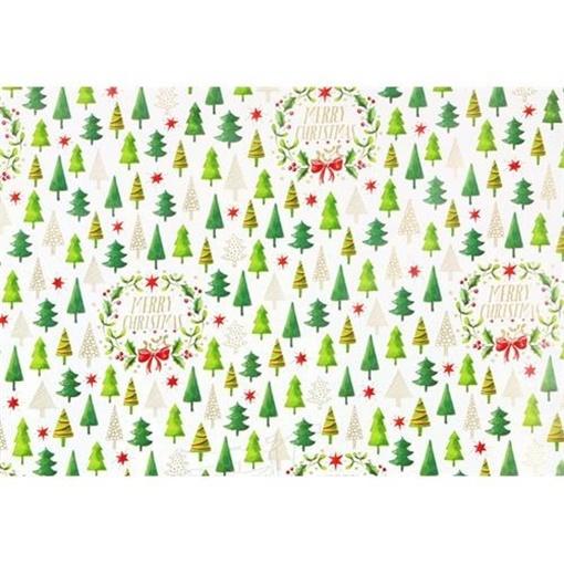 Obrázek z Balící papír Vánoční - stromečky 10 m