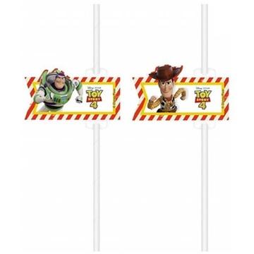 Obrázek Party papírové brčka Toy Story 4 ks