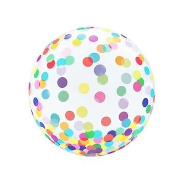 Obrázek Bublina průhledná - barevné tečky 46 cm