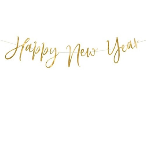 Obrázek z Party nápis zlatý Happy New Year