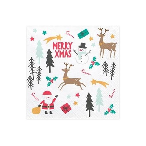 Obrázek z Vánoční ubrousky Marry XMas - 20 ks