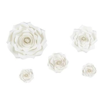 Obrázek Závěs květinový Ivory (krémový) - 5ks