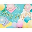 Obrázek z Party nápis zlatý Happy Birthday 62 cm