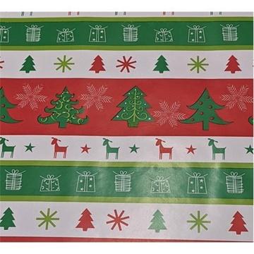 Obrázek Balící papír Vánoční - stromky dárky ovečky 2 m