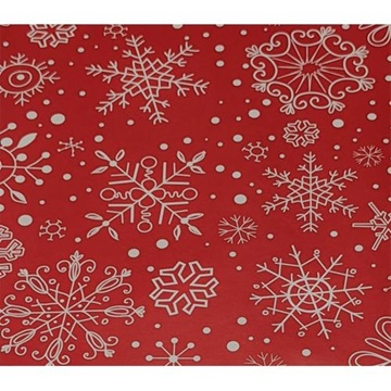 Obrázek Balící papír Vánoční - vločky pastel 2 m