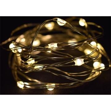 Obrázek LED světelný řetěz Kapky - teplé bílé - 300 cm