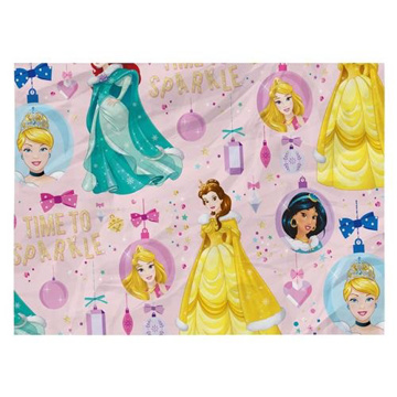 Obrázek Balící papír Vánoční - Disney Prinzezny - 100 x 70 cm - 2 ks