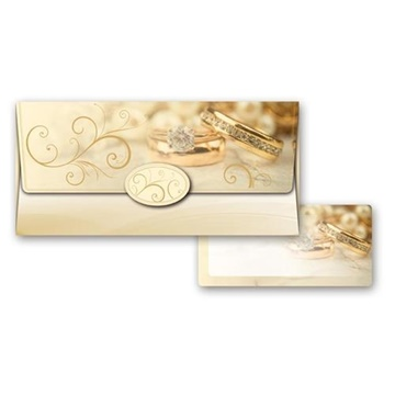 Obrázek Obálka na peníze Svatební zlatá