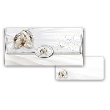 Obrázek Obálka na peníze Svatební Bílá