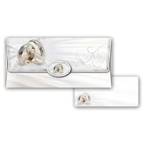 Obrázek z Obálka na peníze Svatební Bílá