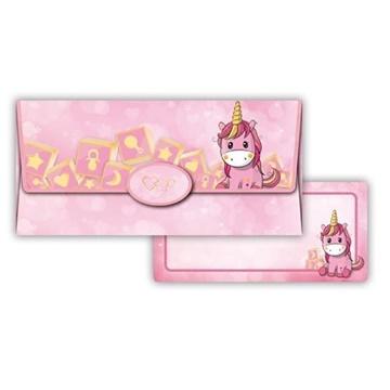 Obrázek Obálka na peníze Růžový jednorožec