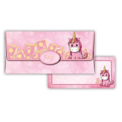 Obrázek z Obálka na peníze Růžový jednorožec