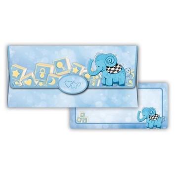 Obrázek Obálka na peníze Modrý slon