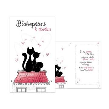 Obrázek Svatební přání Blahopřání k sňatku - Zamilované kočičky