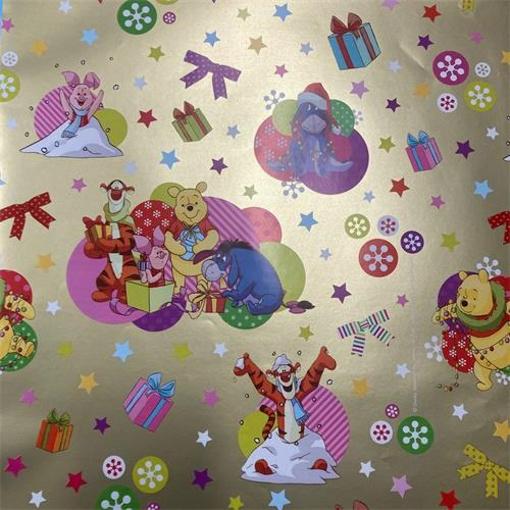 Obrázek z Balící papír Medvídek Pú Zlatý 70 x 100 cm - 2 ks