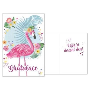 Obrázek Narozeninové přání - Gratulace Plameňák
