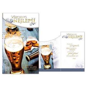 Obrázek Narozeninové přání - Všechno nejlepší - Pivo